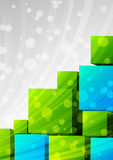 Background with cubes Stock Photography