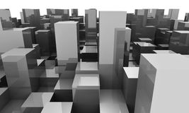 Background with cubes Royalty Free Stock Images