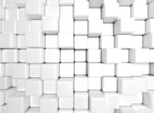 Background with cubes. 3D rendering vector illustration