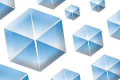 Background - Cubes or Diamonds. There are some blue and white cube, or diamant Stock Photo