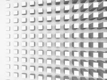 Background with cubes pattern on white wall, 3d illustration Royalty Free Stock Image