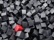 Background from cubes. Background from set of cubes of black colour vector illustration