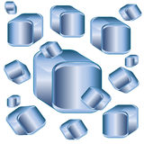 Background from cubic figures Stock Photo