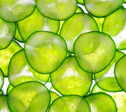 Background with cucumbers Stock Images