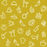 Background, cuisine, cooking, seamless, mustard. Royalty Free Stock Images