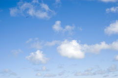 Background. Cumulus clouds in the blue sky Stock Images