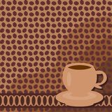 Background with cup of coffee Royalty Free Stock Photo