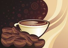 background with cup of coffee Royalty Free Stock Images