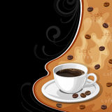 Background with cup of coffee. Stock Photos