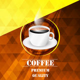 Background with cup of coffee. Design with place for your content Royalty Free Stock Photos