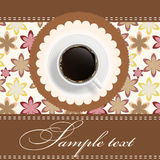 Background with a cup of coffee. invitation. Stock Image