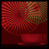 Background with cup of coffee tea decorative elements illustrati Royalty Free Stock Image