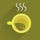 Background With Cup Of Green Tea Royalty Free Stock Images