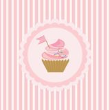 Background with cupcake Royalty Free Stock Photos