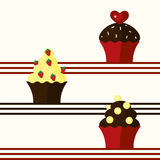 Background with cupcakes Stock Photography