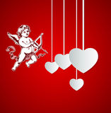 Background with Cupid for Valentine's day Stock Photo