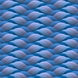 Background of curled blue waves. Abstract background of curled blue waves.Seamless Stock Photography