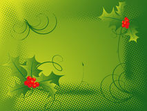 Background with curles. Vector Christmas background with curles and berry vector illustration
