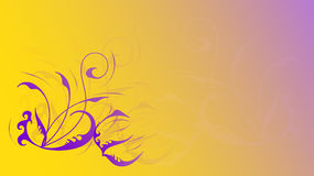 Background with curls. Excellent yellow purple background with curls Stock Photography