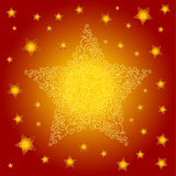 Background with curls and stars. Festive background with curls and stars Stock Photography