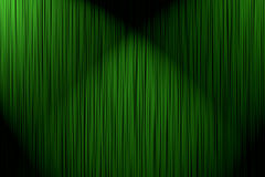 Background curtain green. Abstract background - green curtain with two light spots over it Royalty Free Stock Photos