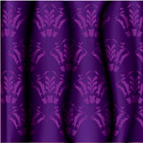 Background. Curtain purple Vector illustrator frame Royalty Free Stock Photos