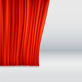 Background with curtain. Background with red velvet curtain. Vector illustration Royalty Free Stock Image