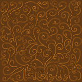 Background with curved lines in warm brown tones. Stock Image
