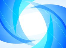 Background with curves. Abstract background with overlapping curvy shapes and lines in blue colour Royalty Free Stock Photos
