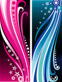 Background curves vector. Composition illustration in color Stock Images