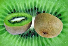 Background from cut fruit of kiwi Stock Image