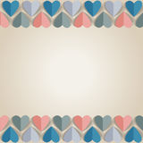 Background with cut paper hearts. Royalty Free Stock Photo