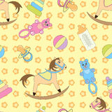 Background with cute baby toys Stock Photos