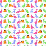 Background with cute dinosaurs. Royalty Free Stock Photos