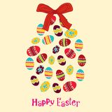 Background with Cute Easter Egg Stock Photo