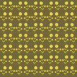 Background with cute flowers Royalty Free Stock Images
