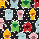 Background with cute monsters Royalty Free Stock Photo