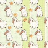 Background with Cute Sheeps. Seamless Pattern Royalty Free Stock Photography