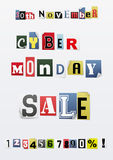 Background of Cyber Monday sale Stock Images