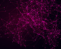Background with cybernetic particles Stock Photos