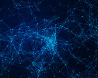 Background with cybernetic particles Royalty Free Stock Images
