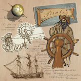 Pirates - Navigation at Sea Royalty Free Stock Photos