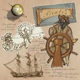 Pirates - Navigation at Sea Royalty Free Stock Photos