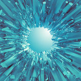 Background with 3d arctic blue crystal shapes Royalty Free Stock Images