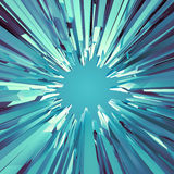 Background with 3d arctic blue crystal shapes. Abstract arctic round broken background Stock Photos