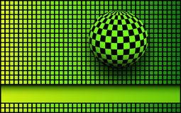 Background 3d black and green Stock Photos