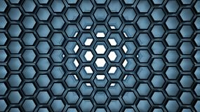 Background with 3d blue. Beehive on white Stock Photography