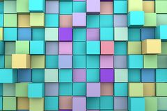 Background of 3D cubes. Abstract background to create banners, covers, posters, cards, etc Royalty Free Stock Photo