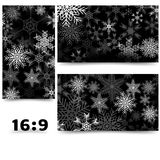 Background with 3d effect, snowflakes, 16: 9 format. Eps 10 vector illustration