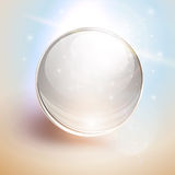Background with 3D glass sphere Stock Images